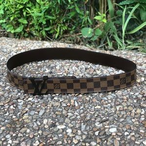 Louis Vuitton LV Initiales Brown Leather Belt